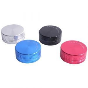 Grinder Secret Smoke 40 mm 2 Partes (negro,azul,rojo,plata)